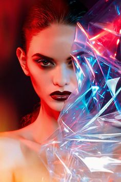 Iridescently Fierce Photoshoots - Jake Farra Captures a Vibrantly Dark Beauty Story (GALLERY)