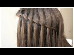 Şelale Saç Örgüsü - YouTube Braids For Short Hair, Short Hair Styles, Curling Hair With Flat Iron, Curled Hairstyles, Hair And Nails, Bobby Pins, Youtube, Curls, Waterfall