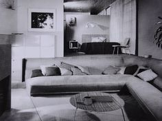 The Case Study House #9 designed by Charles Eames and Eero Saarinen for John Entenza. Built in conversation area.