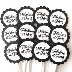 34 Inch Circles 40th Birthday Confetti Black and Grey or Your Colors Forty the Ultimate F-word