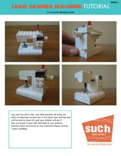 My LEGO sewing machine tutorial here! #LEGO #tutorial