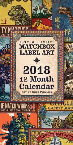 2018 Matchbox Art Wall Calendar 6 x 12