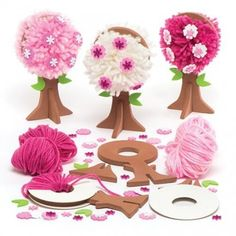 Buy Spring Blossom Pom Pom Tree Kits at Baker Ross. Pom pom decorations for children to create - simply make the po Butterfly Project, Butterfly Crafts, Preschool Crafts, Kids Crafts, Pom Pom Tree, Pom Pom Decorations, Spring Crafts For Kids, Bunny Crafts, Toddler Art