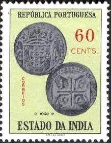 Sello: Coins (India portuguesa) (Numismatics) Mi:PT-IN 569