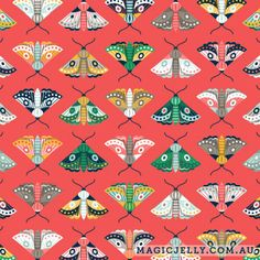 Flutter (red) fabric by magicjelly on Spoonflower - custom fabric Fabric Shop, Red Fabric, Custom Fabric, Catching Fireflies, Pretty Drawings, Art Furniture, Surface Design, Spoonflower, Fabric Design