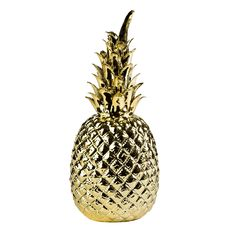 Ananas gold - 69 E Sizes: Material: glazed porcelain from Pols Potten - (not for outdoor) Pineapple Ornament, Deco Jungle, 4th Wedding Anniversary, Fish Lamp, Gold Home Accessories, Basement Bar Designs, Gold Home Decor, Gold Pineapple, Roses