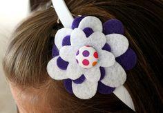 Felt Flower Headband Tutorial