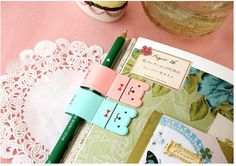 MochiThings.com: Lucky Bear Pen Holder - Mint, Pink, Lavender yes please!