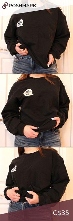 "I just added this listing on Poshmark: ""You Move Me"" Embroidered Black Gildan Crewneck. #shopmycloset #poshmark #fashion #shopping #style #forsale #Gildan #Sweaters Fleece Sweater, Pink Sweater, Crew Sweatshirts, Hoodies, Hockey Hoodie, Canvas Shirts, Neck Choker, Vintage Black, Sweaters For Women"
