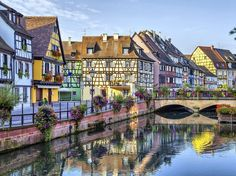 Walt Disney would surely approve of Colmar, with its timber-framed houses, colorful facades, and flower-lined canal.