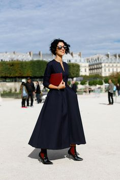 A lady always knows.  PFW SS13 Street Style // Yasmin Sewell