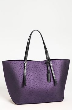 Rich color! Michael Kors Amethyst Leather Tote