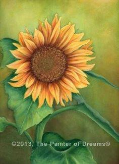 Sunflower painting by Arkansas artist, Sheri Hart