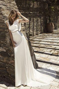 Sposa Moda 2016 Wedding Dresses - World of Bridal 2016 Wedding Dresses, Designer Wedding Dresses, Bridal Dresses, Wedding Gowns, Simple Lace Wedding Dress, Wedding Dress Sleeves, Silk Satin Dress, Bridal Dress Design, Sophisticated Fashion