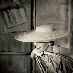 Anne Gunning, vintage models, Pierre Balmain, 1950s, Photography, Henry Clarke, Vogue UK