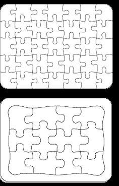 I can see so many uses for blank puzzles