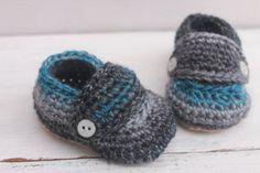 Baby Boy Booties, Crochet Baby Booties, Baby Boy Shoes
