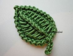 How To Crochet A Leaf