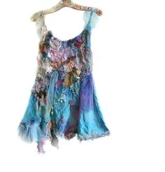 Unique Beautiful Cotton Tunic/Dress with Silk Art to by Paulina722, $340.00