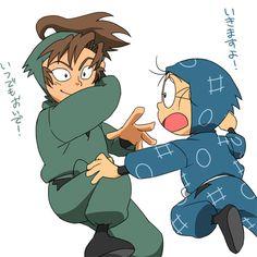「お手柔らかにお願いします!」 Anime Child, Ninja, Fictional Characters, Ninjas, Fantasy Characters