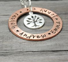Family Tree Necklace, Mother Necklace, Mommy Necklace, Grandmother NecklaceJewelry for Mothers, Personalized Gift Idea, Child Name Necklac