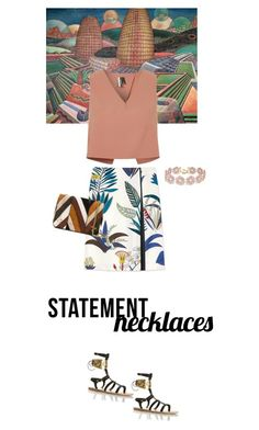 """M.E"" by fanfan-zheng on Polyvore featuring NOVICA, Topshop, Tory Burch, BaubleBar, Jérôme Dreyfuss and statementnecklaces"