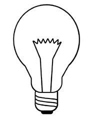 Lightbulb Printable Coloring Page