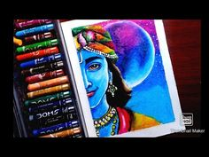 Krishna drawing with oil pastel, Drawing Krishna ,easy Krishna drawing - YouTube Oil Pastel Drawings Easy, Abstract Pencil Drawings, 3d Art Drawing, Art Drawings Sketches Simple, Oil Pastel Paintings, Oil Pastel Art, Indian Art Paintings, Colorful Drawings, Ocean Drawing
