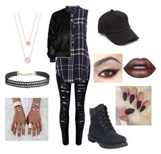 """Untitled #19"" by thegalaxyisme123 on Polyvore featuring Timberland, Givenchy, rag & bone, Humble Chic, Michael Kors and Lime Crime"