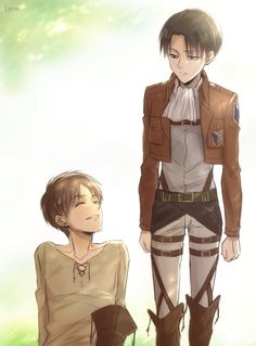Eren and Levi - Attack on Titan/Shingeki no Kyojin Ereri Lena Art Levi Ackerman, Ereri, Eren E Levi, Armin, Mikasa, Attack On Titan Ships, Attack On Titan Anime, Fanarts Anime, Manga Anime