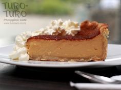 EGG PIE. Imagine custard-meets-cheesecake and you have this divine dessert. #filipinofood #pinoyfood | Filipino Food Restaurant in New Zealand