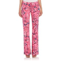 Lilly Pulitzer Georgia May Floral-Print Palazzo Pants ($145) ❤ liked on Polyvore featuring pants, apparel & accessories, tropical print pants, palazzo pants, flared pants, floral printed pants and floral pants