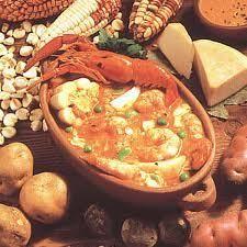 chupe de camarones - for mom. Peruvian Dishes, Peruvian Cuisine, Peruvian Recipes, Seafood Recipes, Gourmet Recipes, Soup Recipes, Cooking Recipes, Shrimp Bisque, Shrimp Soup