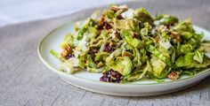 This brussels sprouts salad is something that I enjoy serving as an alternative to a basic green one. It's wonderful for lunch or as a side dish to any meal you dish up this winter.
