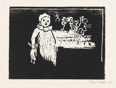 Girl Fantasy  -  Emil Nolde  1906  German 1867-1956  Woodcut