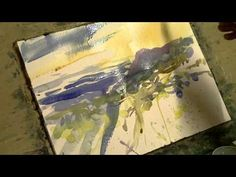 Winter Watercolor Demonstration. Loose watercolor lesson. - YouTube