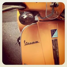 Burnt orange! This color and Vespa are a match made in heaven