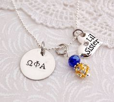 Cute! Omega Phi Alpha Little Sister necklace