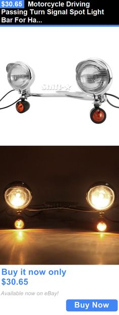 motorcycle parts: Motorcycle Driving Passing Turn Signal Spot Light Bar For Harley Cruiser BUY IT NOW ONLY: $30.65