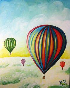 Balloon Fantasy - original by Cocktails 'n Canvas local artist Bobbie Dorka. Rating - Moderate.