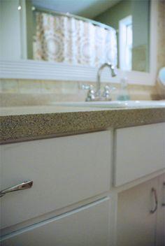Sprayed Bathroom DIY Countertops
