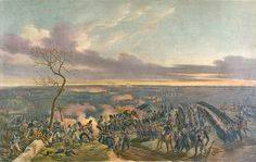 Battle of Montmaril in 1814, where Ney led 6 Battalions of Old Guard into battle, you can see them charging in this painting.