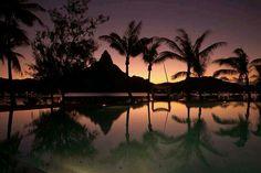 Beautiful sunset in Bora Bora
