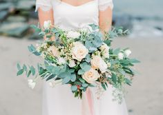 Photography: Kristina Malmqvist - www.kristinamalmqvist.com  Read More: http://www.stylemepretty.com/destination-weddings/2015/04/08/seaside-pastel-wedding-inspiration/