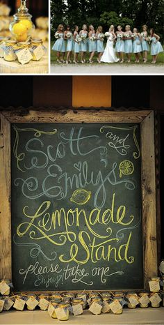 chalkboard signs for parties