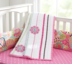 pottery barn baby girl bedding | ... girl as to match her Pottery Barn Pink Paisley bedding collection