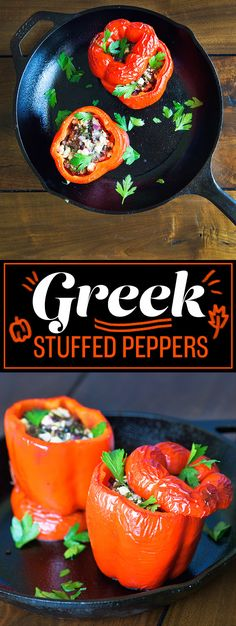 WEDNESDAY: Greek Stuffed Peppers | 5 Delicious Low-Carb Dinners For Under $50