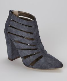 Look at this Navy Mulvey Bootie on #zulily today!