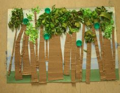 Preschool Crafts for Kids*: Earth Day Recycled Collage Forest Craft