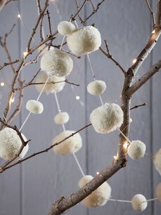 NEW Wool Pom Pom Garland - Ivory